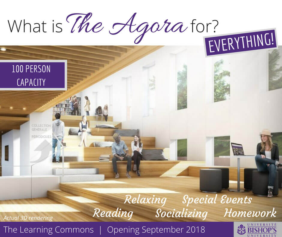 The Agora at the Bishop's University Learning Commons