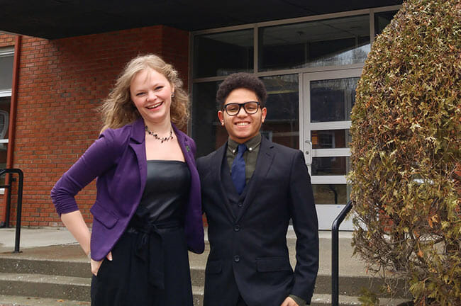 Rachel McNamara and Mouadh Merai, BUDD reps for the 2018-2019 academic year.