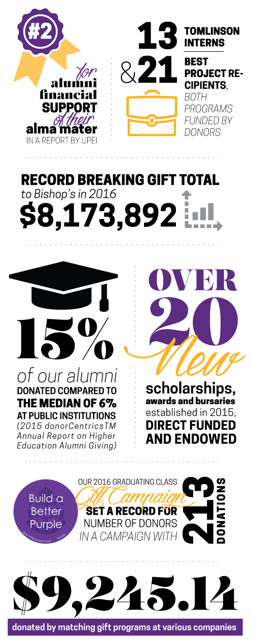 Statistics for alumni financial support
