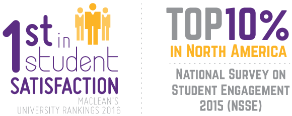 Bishop's is first in student satisfaction and top 10% in North America