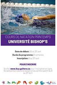 Cours de natation printemps 2019