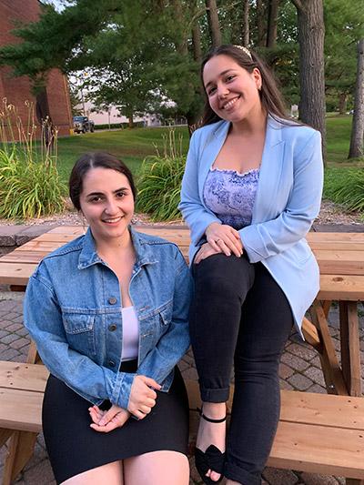 Jessica Bournival and Maria Clavelli