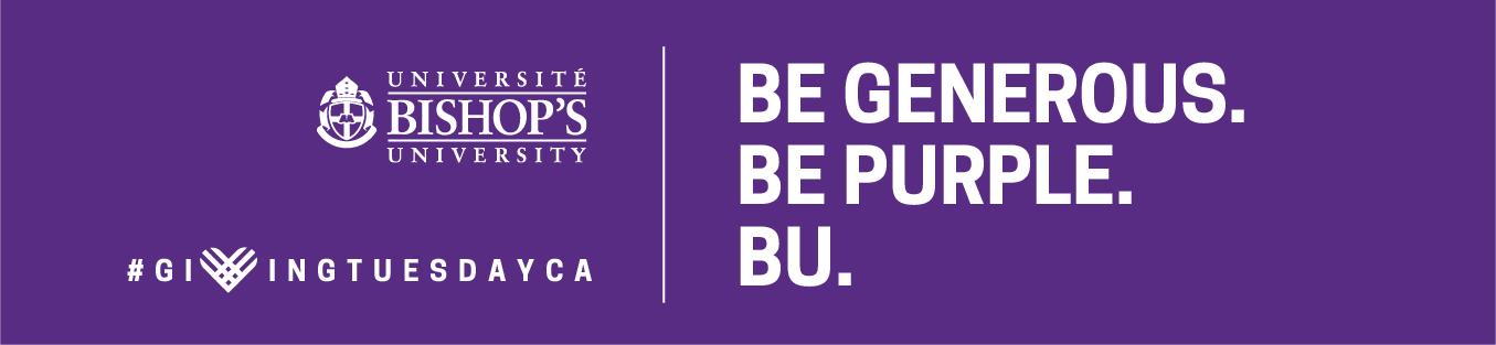 Banner BE GENEROUS, BE PURPLE, BU
