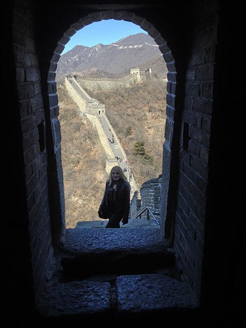 Sarah Gojecki on exchange in China, Winter 2014