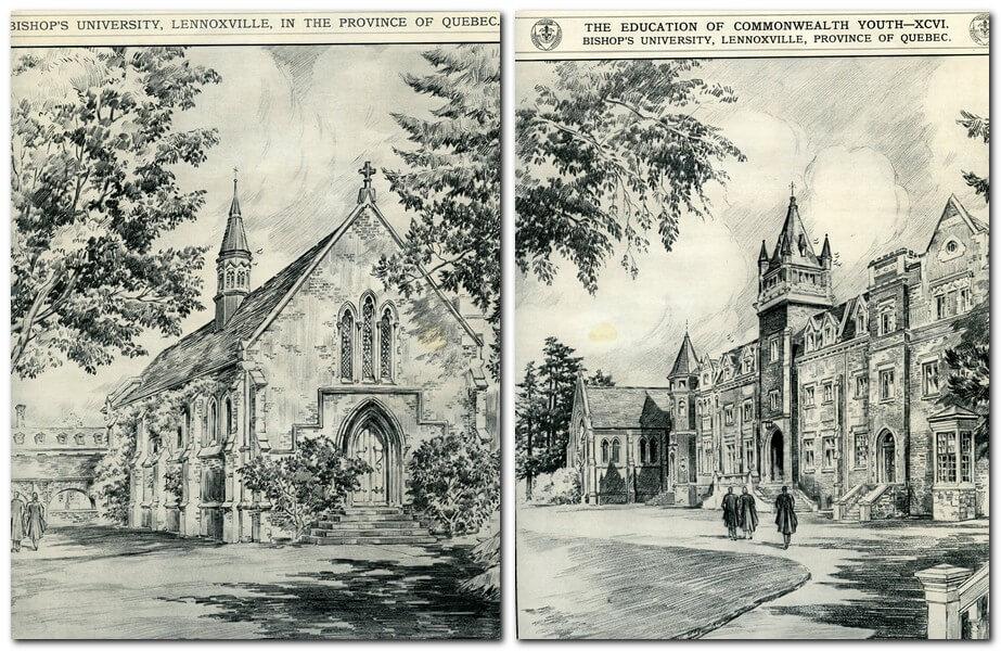 Drawings of Bishop's campus