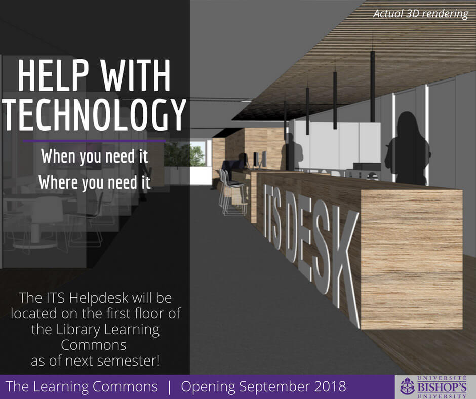 ITS Helpdesk in the Learning Commons