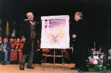 Unveiling the official stamp design