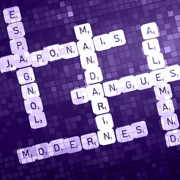 Mandarin, espagnol, allemand, japonais