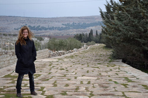 Michele on Roman Road in Syria