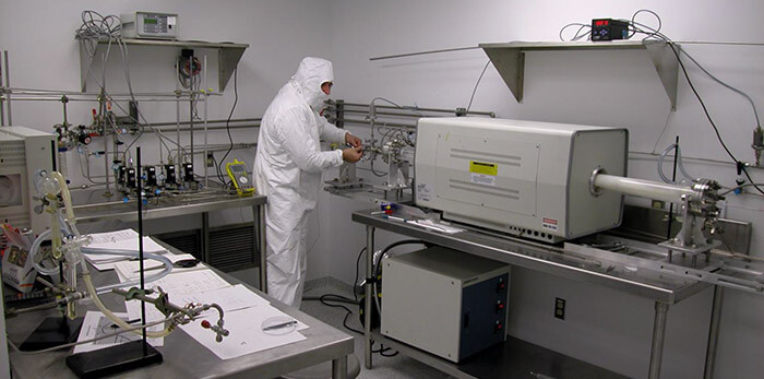Cleanroom class 100, currently under redesign for expansion