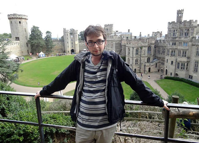 Thomas Niles on exchange in England for Fall 2013 visiting Warwick Castle.