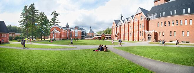 Bishop's campus panoramique view