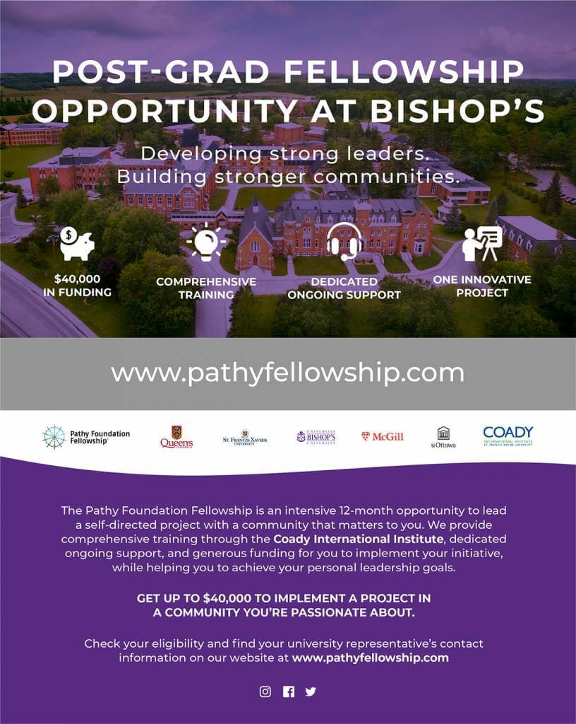 Post-Grad Fellowship Opportunity at Bishop's