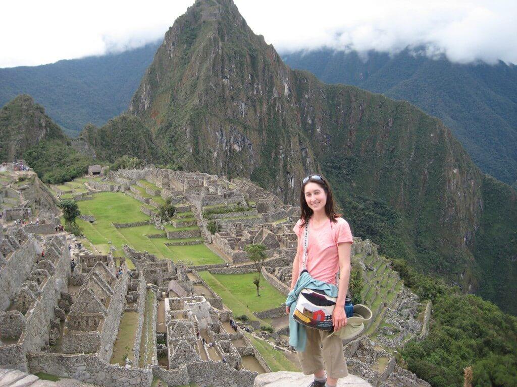 Maryse Picard at Machu Picchu