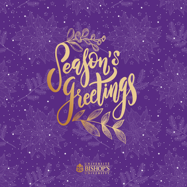 Purple Wishes holiday card