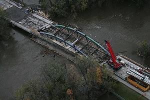 Massawippi Bridge Under Repair