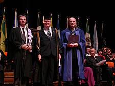Professor Jean Levasseur, Alex Paterson, and Jim Corcoran