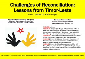 Challenges of Reconciliation: Lessons from Timor-Leste