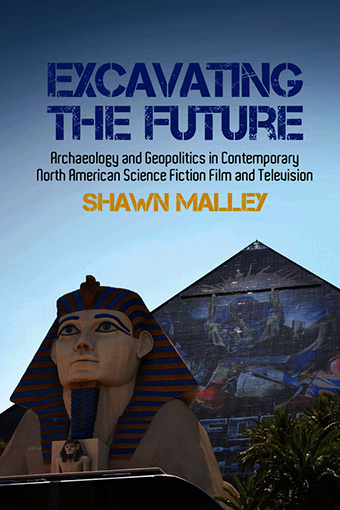 Excavating the Future book cover showing egyptian pyramid