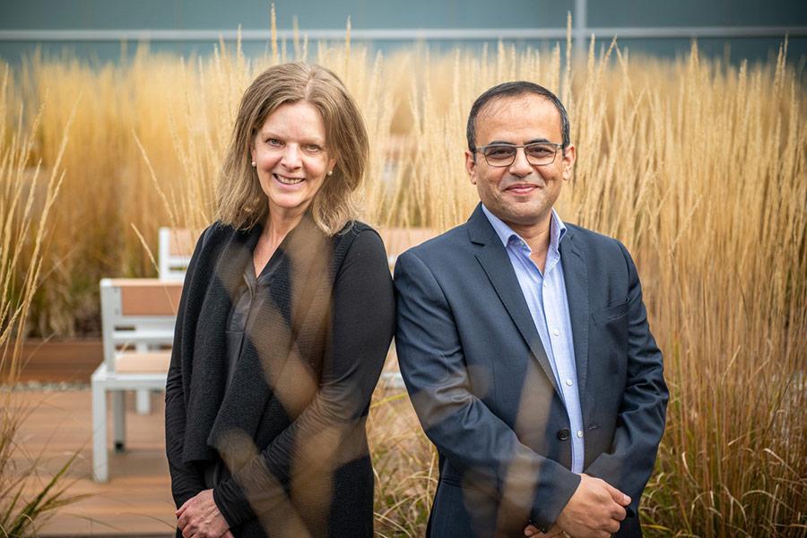 Dr. Susan Reid and Dr. Bessam Abdulrazak