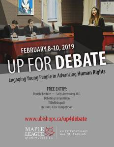 Up for Debate 2019