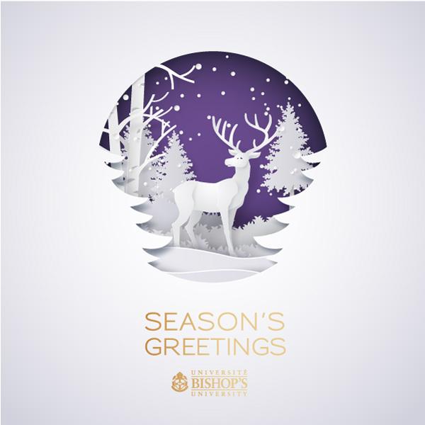 Winter Deer holiday card