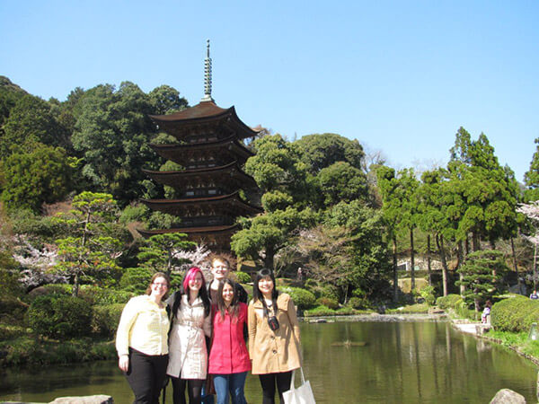 Bishop's students on exchange at Yamaguchi Prefectural University in Japan