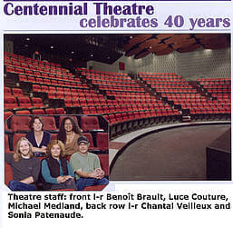 Centennial Theatre celebrates its 40th anniversary