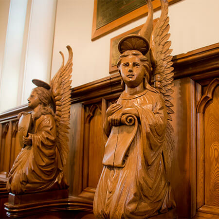 Carvings at St. Mark's Chapel