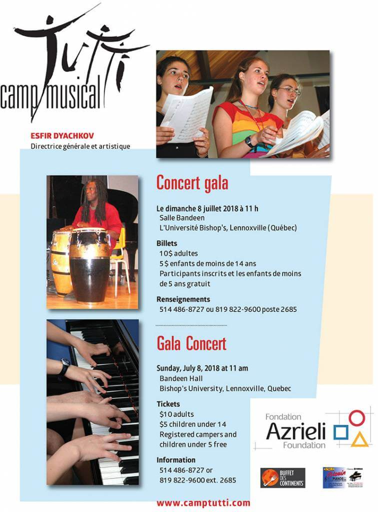 Camp musical Gala Concert