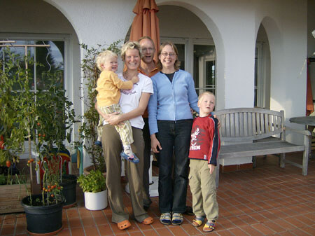 Joy with her German family