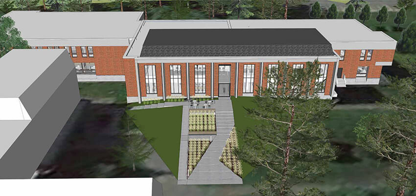 Learning Commons exterior view