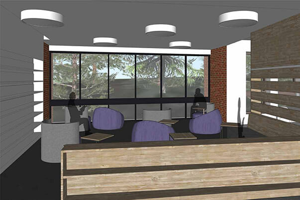 Learning Commons lounge area