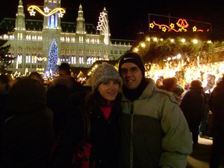 Marc-André at Vienna's Christmas Market (Christkindlmarkt)