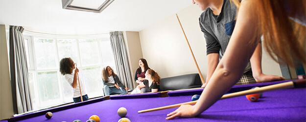 Pool table in residence